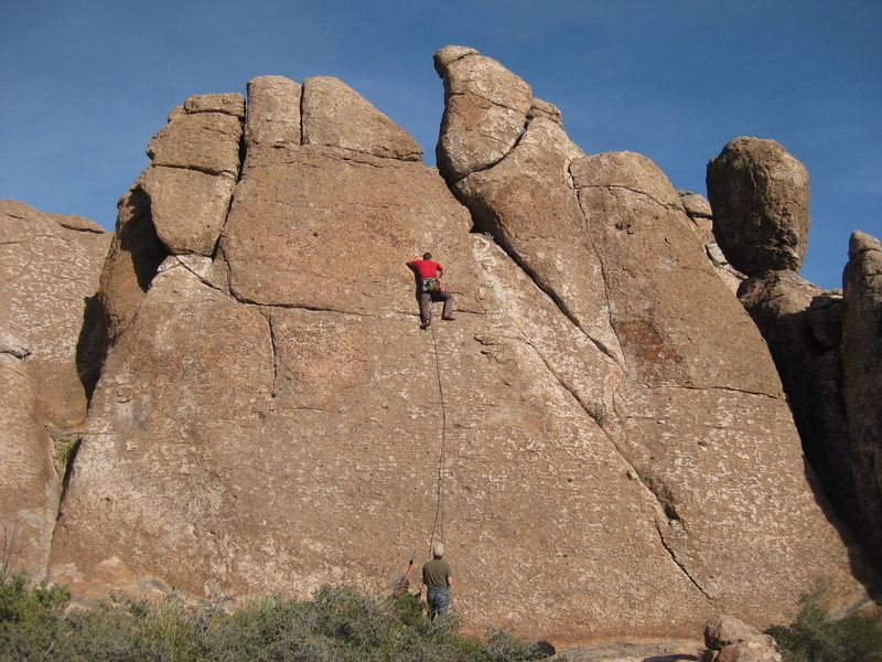 Rock Climbing Photo: Doug on Wake and Bake. 3 bolt face to 2 bolt belay...