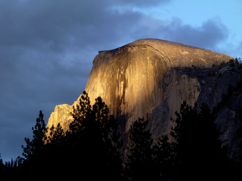 """Rock Climbing Photo: """"It is a crest of granite...perfectly inacces..."""