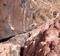 Rock Climbing Photo: The clean upper section of the corner