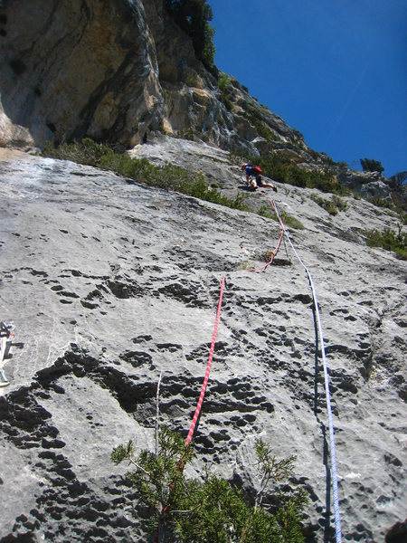 Staying right of the large dihedrals on pitch 3.