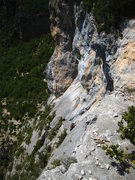 Rock Climbing Photo: Looking down on the last 2 pitches.  The final roo...