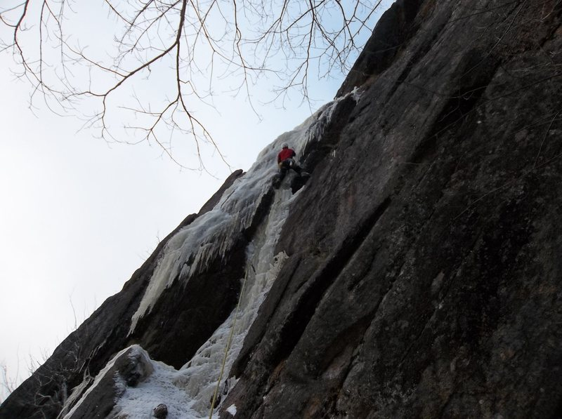 Rock Climbing Photo: Ryan Barber climbing through the crux of Shear Ele...