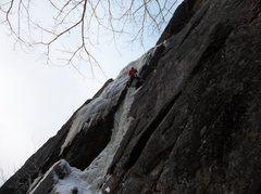 Rock Climbing Photo: Ryan Barber climbing through the crux of Shear Ele...
