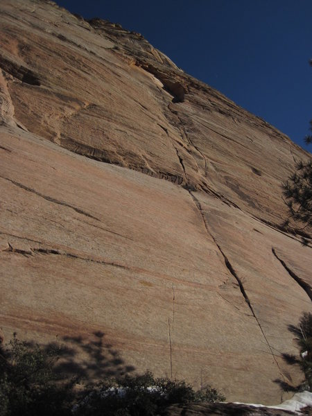 "Rock Climbing Photo: Pitches 10-12 leading through ""the Eye"" ..."