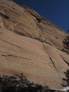 "Rock Climbing Photo: Pitches 10-12 leading through ""the Eye"" ..."