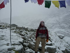 Rock Climbing Photo: Me in a snowstorm en route to Rysy, highpoint of P...