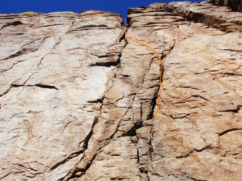 Rock Climbing Photo: Not exactly the perfect splitter I was envisioning...