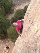 Rock Climbing Photo: Juancho with the OS.