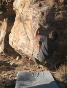 Rock Climbing Photo: Rob M on Poker in the Front (V4), Joshua Tree NP