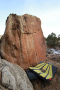 Rock Climbing Photo: This problem has some pretty bad rock.... That cra...