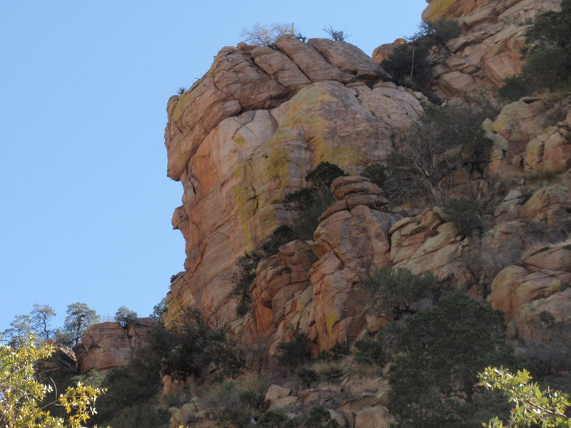 Rock Climbing Photo: Tower across the canyon right where you start head...