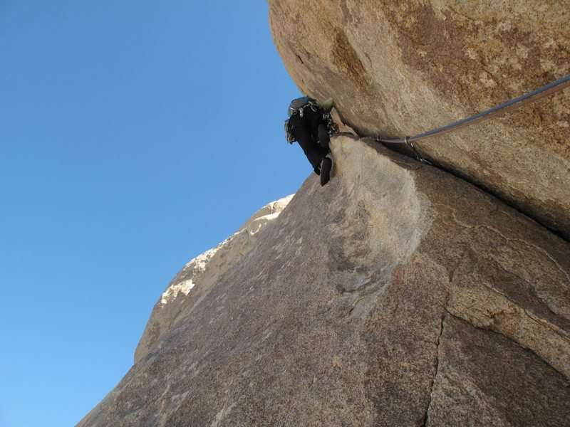 Rock Climbing Photo: P-2 of Right On in Joshua Tree.