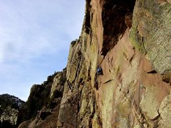 Rock Climbing Photo: My buddy happened to be on Whale's Tail while we w...