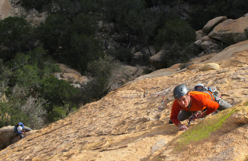 Rock Climbing Photo: Pitch two, Time'll Tell