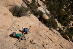 Rock Climbing Photo: Rainbow and Angie on second pitch of Scoopin' Boot...