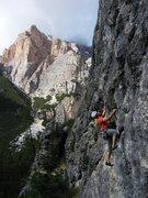 Rock Climbing Photo: Fun and visually appealing climbing at Sass Dlacia