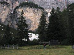Rock Climbing Photo: Approach to Sass Dlacia