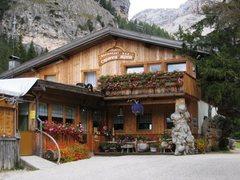 Rock Climbing Photo: Capanna Alpina restaurant/bar at Sass Dlacia