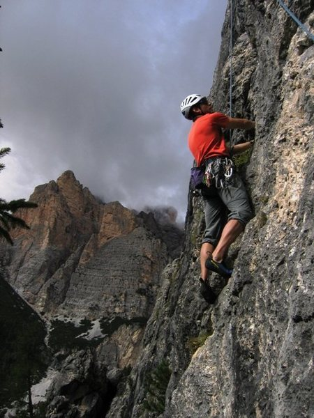 Rock Climbing Photo: Matt catchin' a lap on Placca motoria