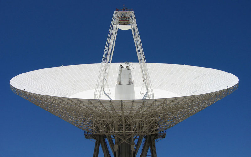 70m deep space antenna at Robledo de Chavela (about 60km west of Madrid) and part of the NASA Deep Space Network.