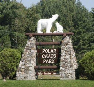 polar caves sign