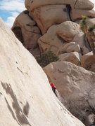 Rock Climbing Photo: my daughter on the lower section of Stitcher Quits...