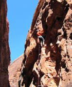 Rock Climbing Photo: Justin on Friend on a warm Feb. day 2/1/12.