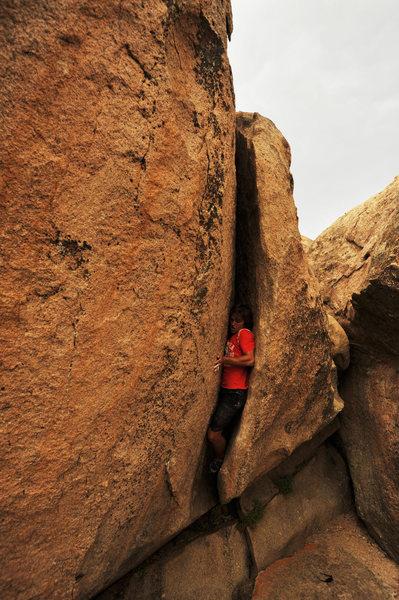 "Rock Climbing Photo: Climbing ""Thunderclap"" at the Druid Ston..."