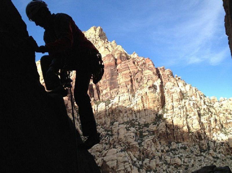 Rock Climbing Photo: Trihardral in First Creek Red Rocks NV