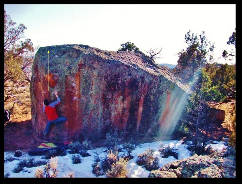 Rock Climbing Photo: Arien working some alternative beta on the Hokey P...