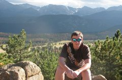 Rock Climbing Photo: Me in RMNP during the summer
