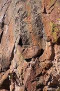 Rock Climbing Photo: Knee bar...