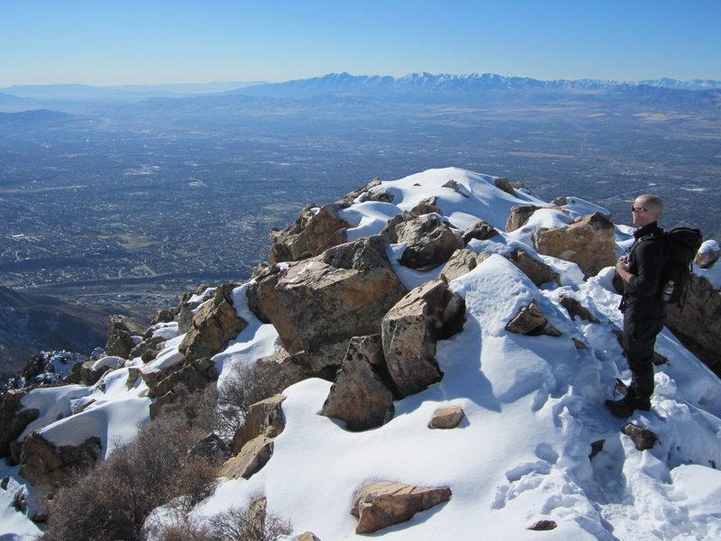 Rock Climbing Photo: Mount Olympus Utah