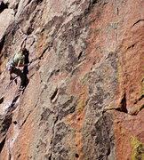 Rock Climbing Photo: The final hard bit...
