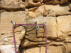 Rock Climbing Photo: A typical belay and rap anchor