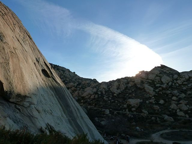 Rock Climbing Photo: Climbing at Big Rock, Lake Perris SRA