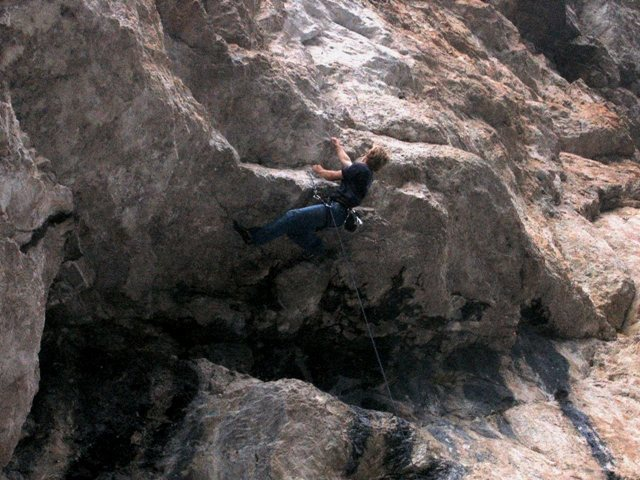 Rock Climbing Photo: Steep rock under overhangs are the highlight of La...