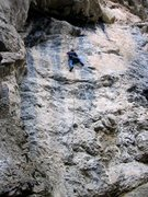 Rock Climbing Photo: Finish under the first roof or continue through on...