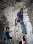 Rock Climbing Photo: Start of Langeweile.