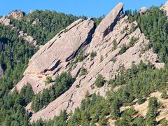 Rock Climbing Photo: Second Flatiron from the east.