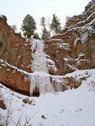 Rock Climbing Photo: Freed Canyon Falls, February 2012.