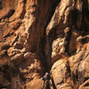 The entrance weakness to the Solitaires. Surprising fun climbing.