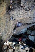 Rock Climbing Photo: No hands rest.