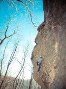 "Rock Climbing Photo: Sending ""Now or Never"" on a beautiful da..."