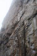 Rock Climbing Photo: Davids Castle Wall  Golden Overhang(5.10)trad  Cro...
