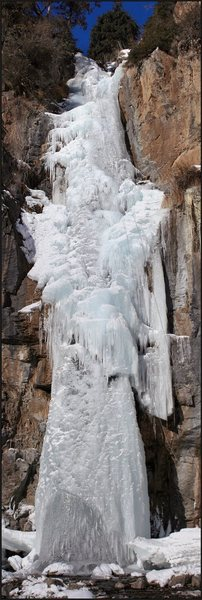 This is Kegeti Waterfall in winter.