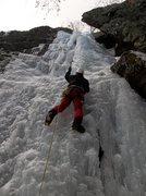 Rock Climbing Photo: Bradley White leading Cave Route Feb. 1, 2012.  Ph...