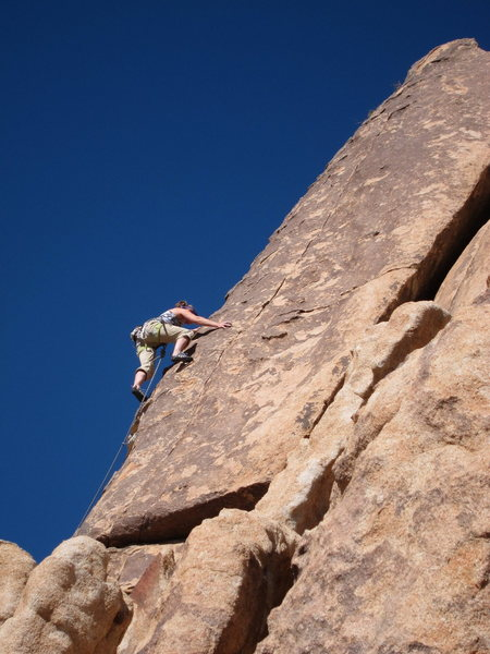 Rock Climbing Photo: Jo, leading Irish Toothache, just past the second ...