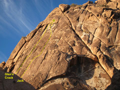 Rock Climbing Photo: Glen's Crack is the left line in this topo (as see...
