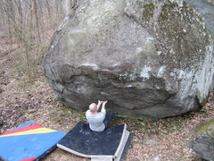 Rock Climbing Photo: Rocky Woodling attempting to get off the ground on...